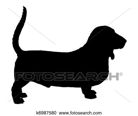 clipart of basset hound k6987580 search clip art illustration rh fotosearch com basset hound clipart