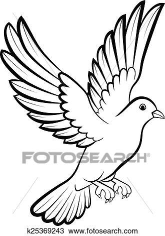 Clipart Cartone Animato Colomba Uccelli Logotipo Per Pace C