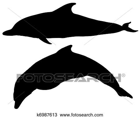 clipart of dolphins silhouettes k6987613 search clip art