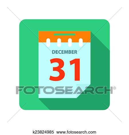 clipart flat new year calendar fotosearch search clip art illustration murals