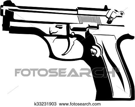 Clipart Of Gun K33231903