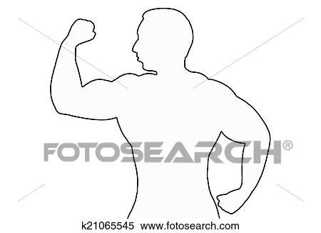 Banque D Illustrations Homme Muscle K21065545 Recherche De