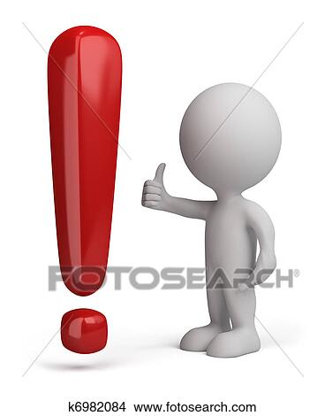 Dessins 3d Personne 224 Point D Exclamation K6982084