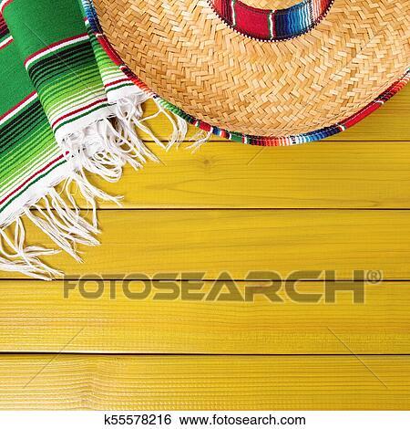 Mexico Cinco De Mayo Background Border Square Format