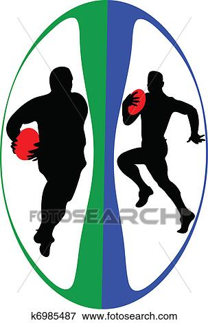 clip art of rugby players in ball vector k6985487 search clipart rh fotosearch com rugby clipart pictures rugby clipart black and white