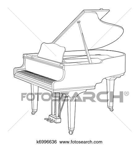 ピアノ クリップアート K6996636 Fotosearch