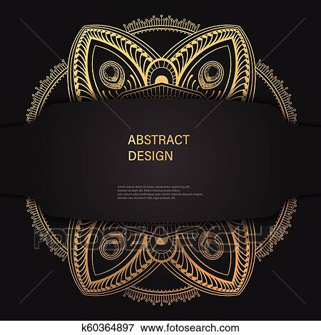 Abstract Luxury Background Ornament Elegant Invitation