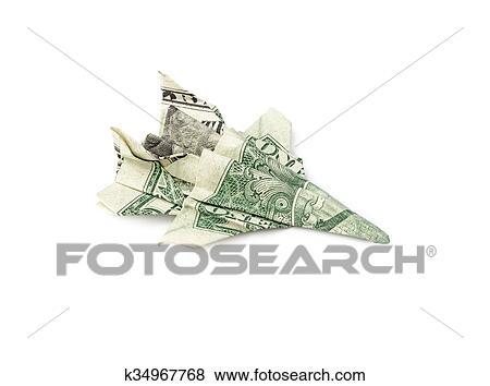 MESSERSCHMITT Jet Fighter Money Origami Dollar Bill Art | Etsy | 354x450