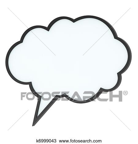 Empty high-quality speech bubble or tag cloud Drawing ...