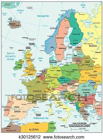 Cartina Geografica Europa Da Stampare.Cartina Europa Politica Da Stampare