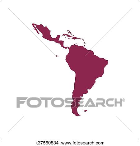 Clipart Of Latin America Map K37560834 Search Clip Art
