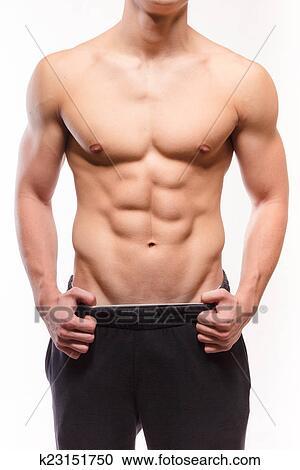 banques de photographies sans chemise musculaire homme sexi