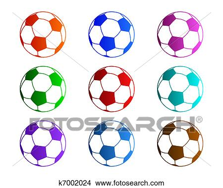 Dessins ballons foot k7002024 recherche de clip arts d 39 illustrations et d 39 images - Dessin de ballon de foot ...