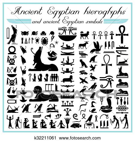 Clipart Of Egyptian Hieroglyphs And Symbols K32211061 Search Clip