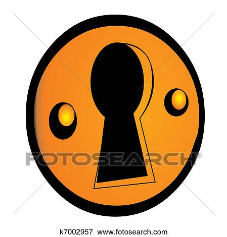 clip art of enigmatic keyhole k7002957 search clipart rh fotosearch com Key and Keyhole openclipart keyhole