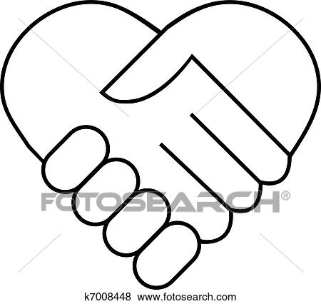 clip art of hand shake k7008448 search clipart illustration