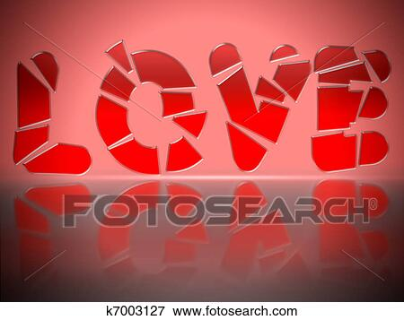 Stock Illustration Of Shattered Love K7003127 Search Eps Clipart