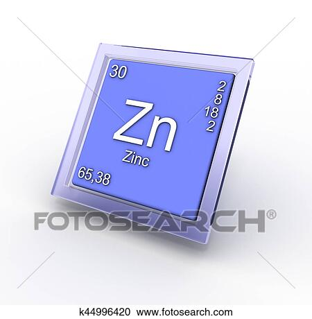 Stock Photography Of Zinc Chemical Element Sign K44996420 Search