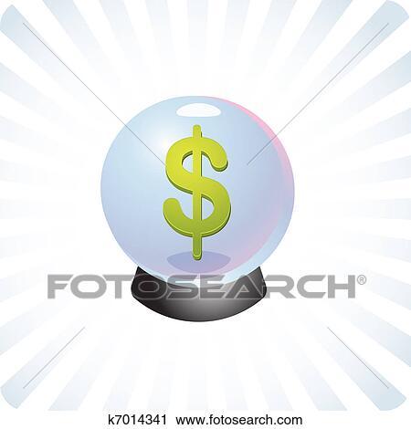 Clipart Of Financial Prediction Crystal Ball Illustration K7014341
