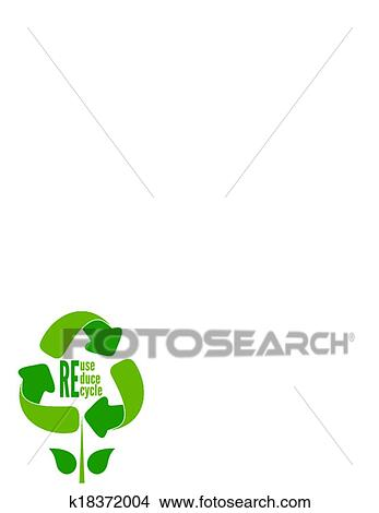 Clipart Of Recycling Symbols K18372004 Search Clip Art