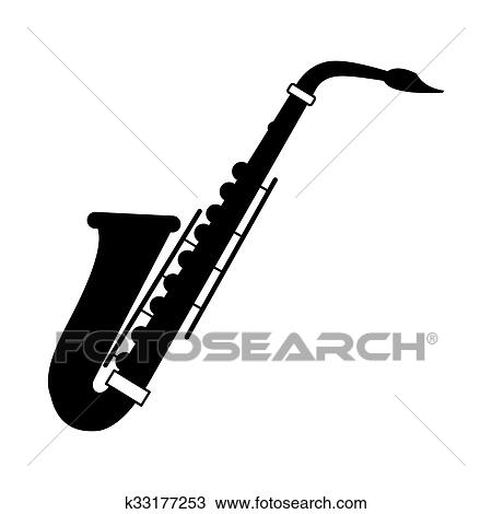 Dessin Saxophone dessin - saxophone, noir, icône k33177253 - recherchez des cliparts