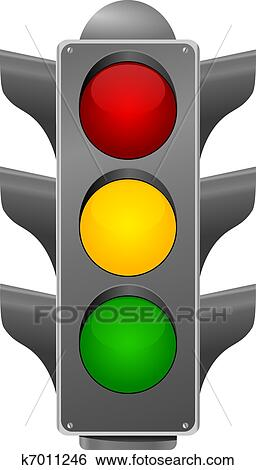 Clip Art Of Stoplight Vector K7011246 Search Clipart