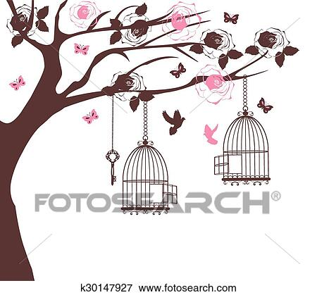 Bird Cage Tree Clip Art K30147927
