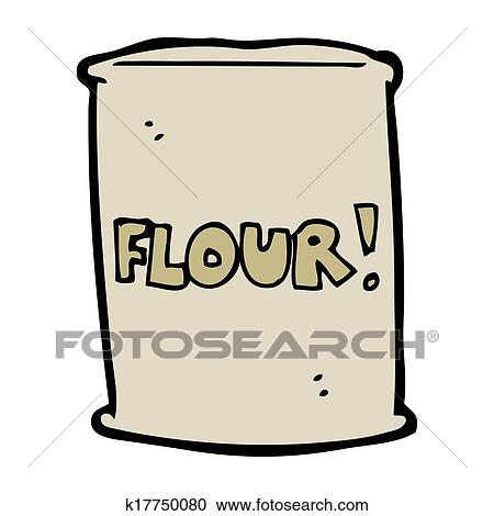 cartoon bag of flour clipart k17750080 fotosearch fotosearch