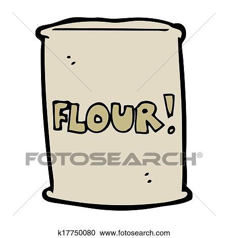 cartoon bag of flour clipart k17750080 fotosearch fotosearch