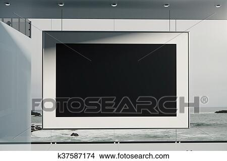Drawing Empty Black Picture Frame Fotosearch Search Clip Art Ilrations Wall Posters