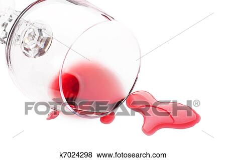 pictures of red wine spilled from glass k7024298 search stock