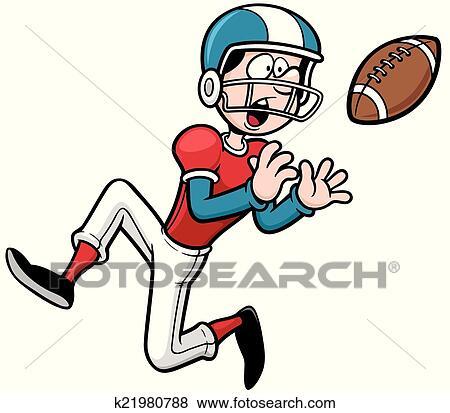 Joueur football am ricain clipart k21980788 fotosearch - Dessin football americain ...