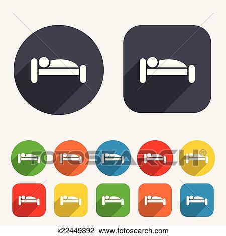 Clipart Menschlich Bett Icon Rest Place Schwelle Symbol