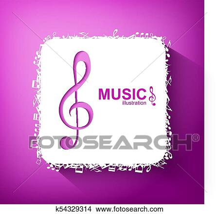 musik, abstrakt, schablone clipart   k54329314   fotosearch