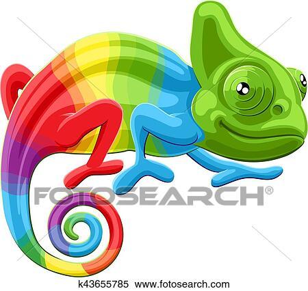 clipart of rainbow chameleon k43655785 search clip art rh fotosearch com chameleon clip art png chameleon clipart transparent