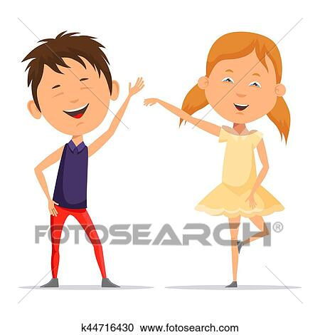clipart of small boy and little child girl dancing smiling rh fotosearch com clipart little boy sleeping clipart little boy sleeping