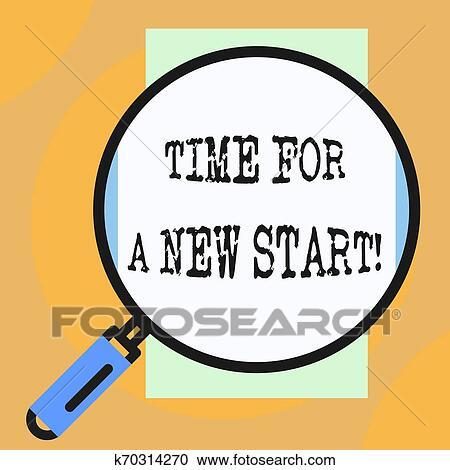 Conceptual, letra de mano, actuación, tiempo, para, un, nuevo, start ,  empresa / negocio, foto, showcasing, algo, es, supposed, para empezar,