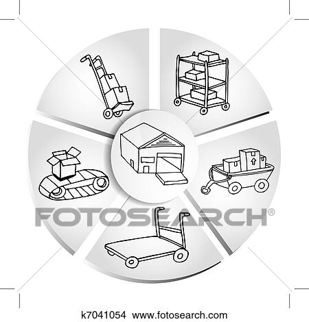 Clipart Of Shipping Manufacturing Chart K7041054