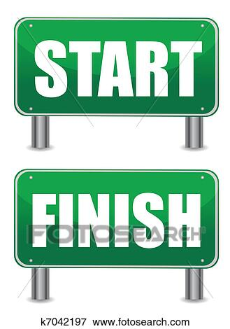 clip art of start finish illustration banners k7042197 search rh fotosearch com star clipart star clipart that i can copy
