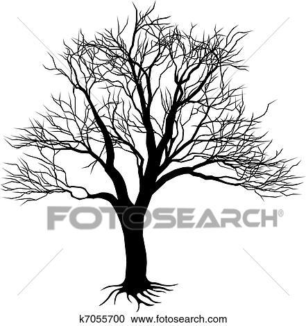 Clipart arbre nu silhouette k7055700 recherchez des - Dessin arbre nu ...