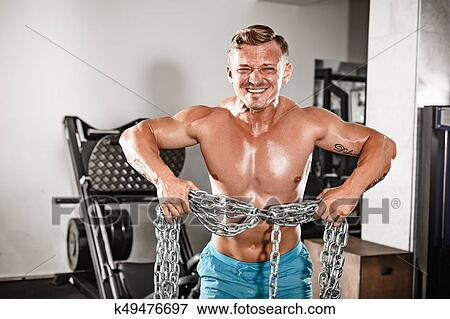 Fit hunky mature guy
