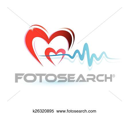 Clipart cuore con ecg icona medicina concetto for Clipart cuore