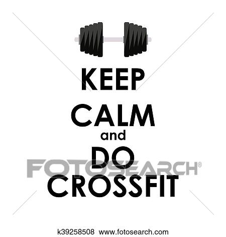 clip art of keep calm and do crossfit creative poster concept card Just Do It Clip Art clip art keep calm and do crossfit creative poster concept card of invit