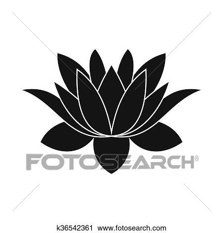 Lotus Flower Icon Simple Style Clip Art K36542361