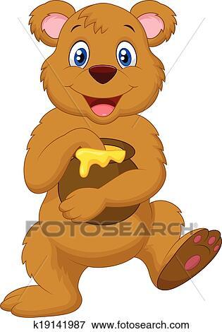 Dessin animé ours