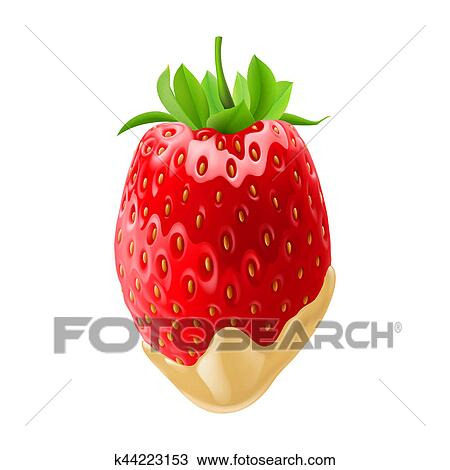 Strawberries In Chocolate Drawing K44223153 Fotosearch