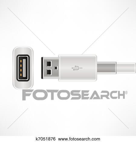 Clip Art - usb kabel k7051876 - Suche Clipart, Poster Illustrationen ...