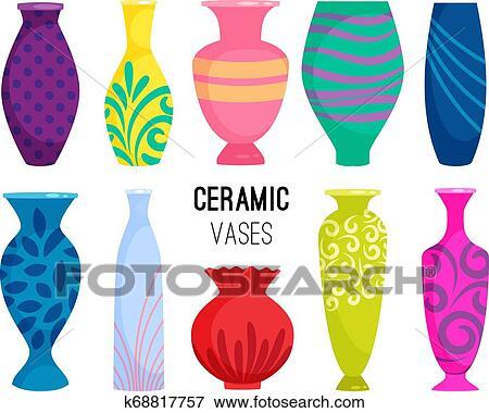 Ceramico Vasos Collection Colorido Ceramica Vaso Objetos