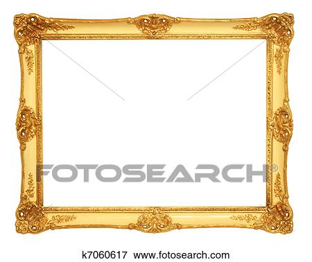 Picture of old antique gold frame k7060617 - Search Stock ...