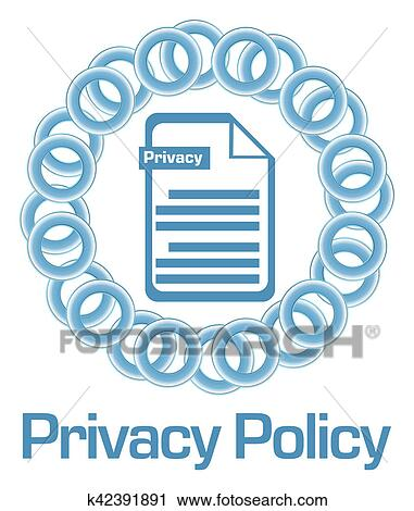 Privacy Policy Clip Art >> Privacy Policy Blue Rings Circular Clip Art